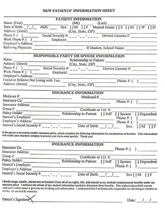 Examples Of Patient Medical Charts home images new patient form download new patient form download ...